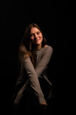 portrait couleur studio femme